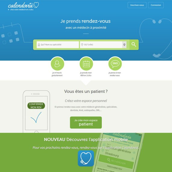 Page d'accueil Calendovia